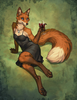 Fox in the Vinyard by KatieHofgard