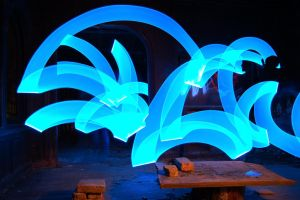 Lightpainting - Blue by OrangeUtan