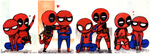 Tumblr Spideypool Doodles by Super-kip