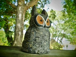 The Great Horned Owl - 2 by InkyDreamz