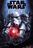 Star Wars vs Aliens - my short story cover by Robert-Shane