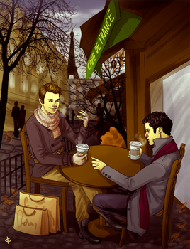 Commission:Cafe by NinaKask