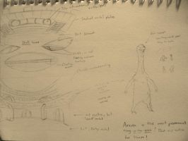 VERY brief concept work for arena and alien by Lexinator117