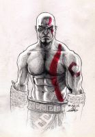 Kratos Sketch by MuhammedFeyyaz