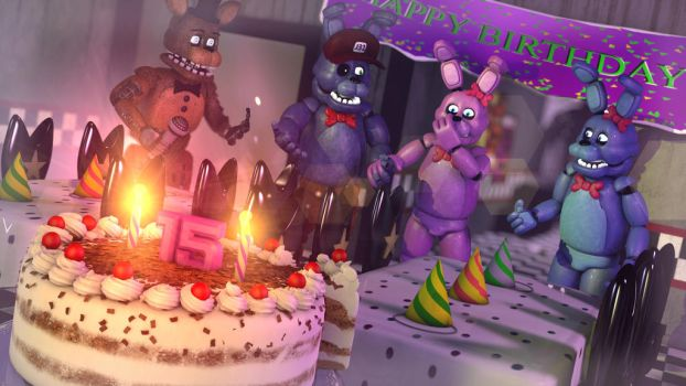 [C4D - FNAF] Happy Belated birthday Airamix by christianzc