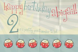 Abigail's 2nd Birthday: Front by Bunnie-Boo