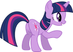 Right behind Twilight by porygon2z