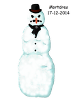 Scary Snowman by Mortdres