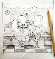 Sweet Tooth Drawing by flyk