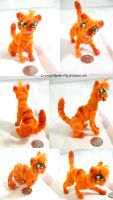 Pipecleaner doll: Firepaw poses by GreyscaleRainbowXx