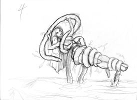 Malaya Tentacle Sketch 5 by ThePerilPimp