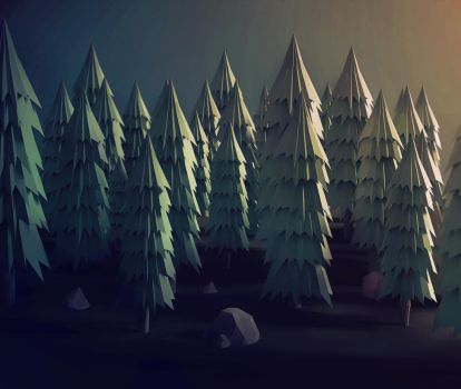 Low Poly Woods by pxpxp