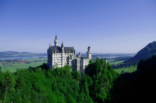 Castle Neuschwanstein by Fuchsia-Groan