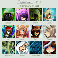 2012 Art Summary by SapphireShine