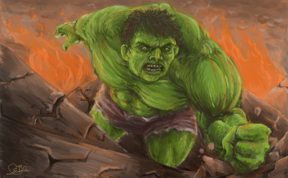 The Incredible Hulk by Boudreau