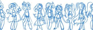 My Girls - basic sketchy by Griddles