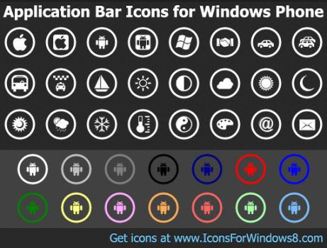 Application Bar Icons for ... by Ikont
