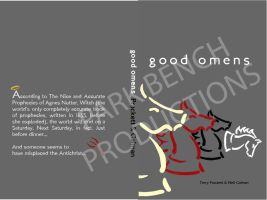 Good Omens book cover design by ParkBenchProduction