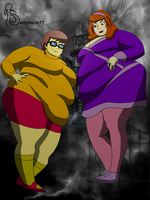 Daphne and Velma BBWs by bellylov3r77