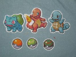 Pokemon Cross Stitch Patches by Nethilia
