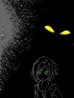 the darkness is hungry. by happysmiles013
