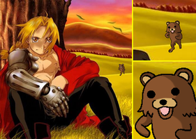 Edward and Pedobear by lisiaczek