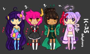 Adoptables Batch 5 -CLOSED- by rainbowstar-chan