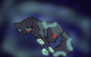 Tron the cat! by FoodStamps1