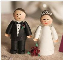 Quilled bride and groom by MichelleCoffey