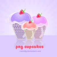 Png Cupcakes two by Romenig