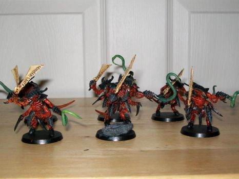 tyranid warriors painted by IkariEXE