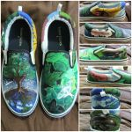 Earth Day shoes by songbirdholly
