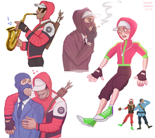 tf2 doodles by vampiriism