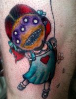 Creepy Little Girl Tattoo by lady-decay