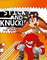 Sticks and Knuckles in SMASH Colored by dreamcastzx