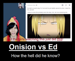 Onision vs Edward Elric by peppermix14