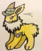 Airforce Jolteon(commission) by TheNeonUmbreon