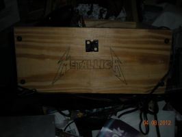 Metallica Logo on Wooden Chest by tehAgg