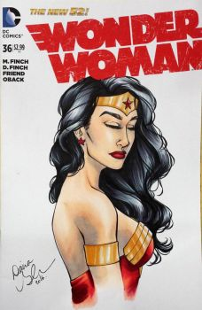 Wonder Woman sketch cover by mechangel2002