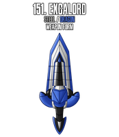 Fakemon: 151 - Legendary Excalibur - Weapon form by MTC-Studio