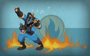 TF2: Rock n' Roll Rebel by midwaymilly