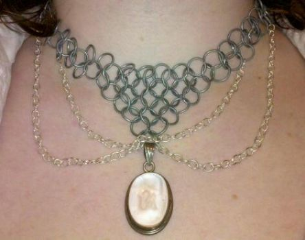 Om Chainmail Necklace by EmmaLysyk