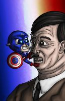 Lil Captain America vs Hitler... by halwilliams