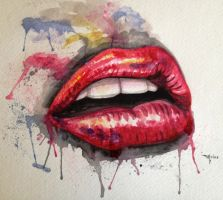 Lips by frizz-art