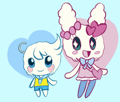 Lovelitchi and Lovesoratchi (Full Evolved Form) by HeroineMarielys