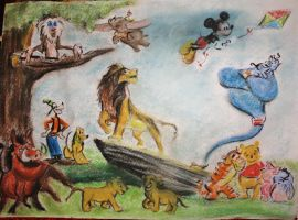 Colour Study for Disney Mural by Bonniemarie