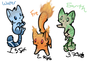 Adoptable designs (elemental):available PRICES CUT by Rashii-Stormii