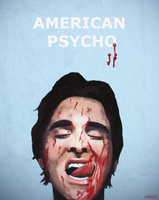 American Psycho Poster (Christian Bale) by Elayez