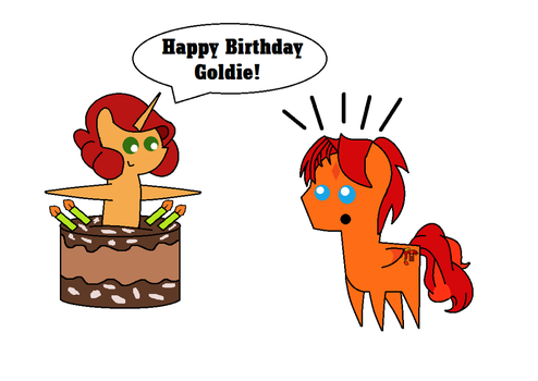 Birthday Cake Suprise by equestriaguy637