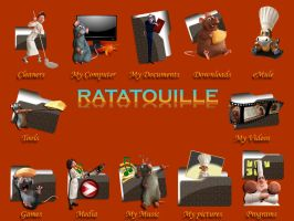 Ratatouille Icon Pack by jlfarfan